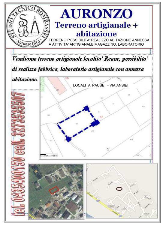 vendita terreno edificabile Auronzo di Cadore